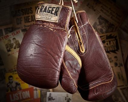 Боксёрские перчатки старинные винтажные